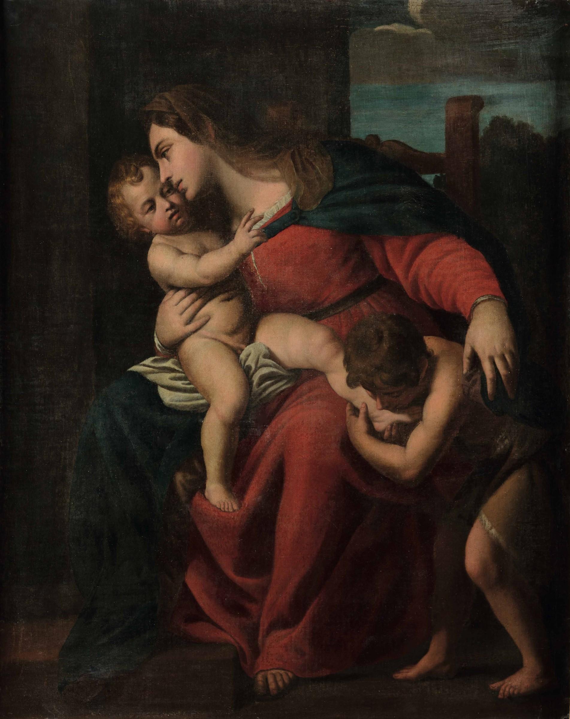 Alessandro Turchi detto l'Orbetto (Verona 1578 - Roma 1649), Madonna con Bambino e [...]