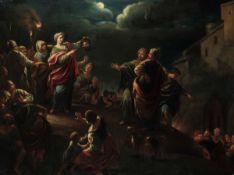 Ercole Graziani (Bologna 1688-1765), cerchia di, Giuditta trionfante - olio su tela, [...]