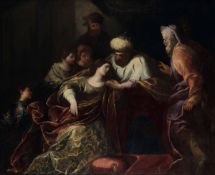 Orazio De Ferrari (Voltri 1605 - Genova 1657), Ester davanti ad Assuero - olio su [...]