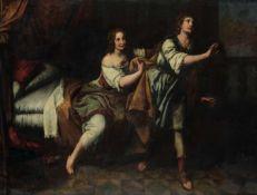Domenico Fiasella (Sarzana 1589-1669), bottega di, Giuseppe e la moglie di Putifarre [...]