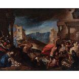 Bartolomeo Biscaino (Genova 1632-1657), Strage degli innocenti - olio su tela, cm [...]