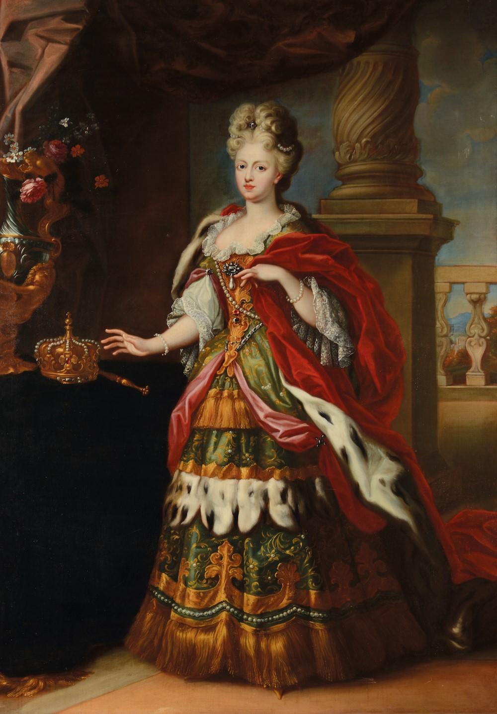 Scuola del Nord Europa del XVIII secolo, Ritratto di Cristina di Svezia - olio su [...]