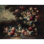 Scuola piemontese del XVIII secolo, Natura morta con vaso di fiori - coppia di [...]