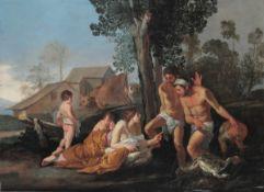 Giulio Carpioni (Venezia 1613 - Verona 1678), Il mito di Latona - olio su tela, cm [...]