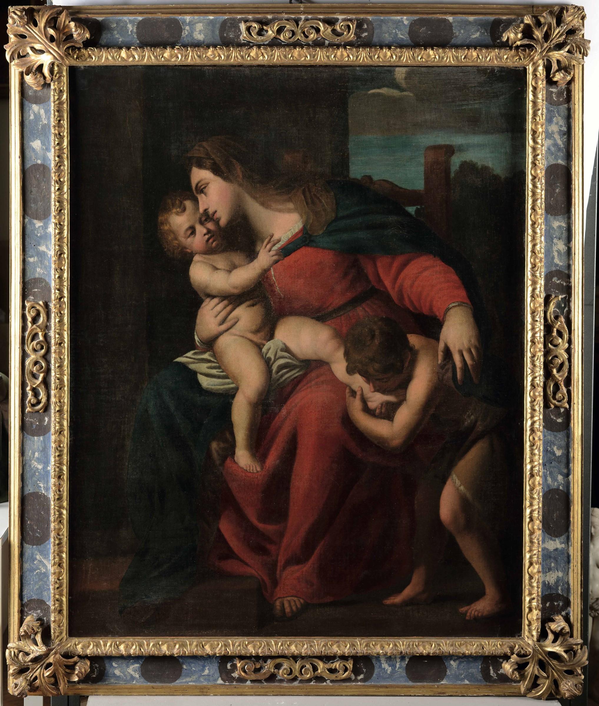 Alessandro Turchi detto l'Orbetto (Verona 1578 - Roma 1649), Madonna con Bambino e [...] - Image 3 of 3