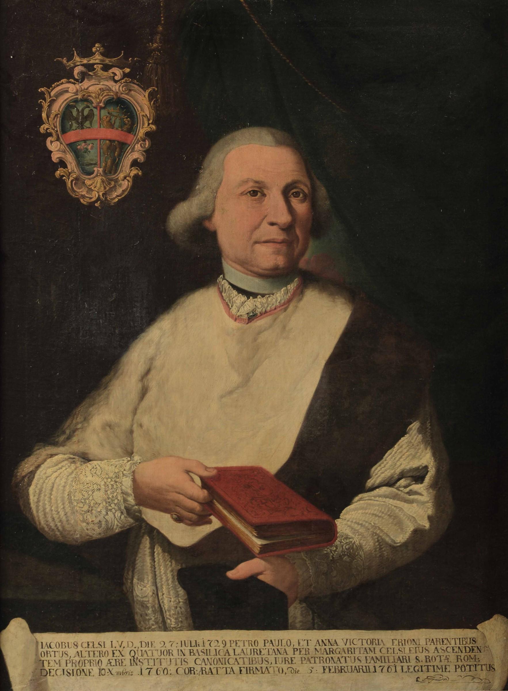 Scuola dell'Italia centrale del XVIII secolo, Ritratto di Iacopo Celsi - olio su [...]