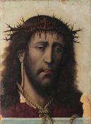 Scuola ispano-fiamminga del XVI secolo, Ecce Homo - olio su tavola, cm 42,5x30,8, [...]