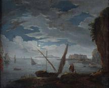 Francesco Fidanza (Roma 1747 - Milano 1819), Notturno con veduta costiera - olio su [...]
