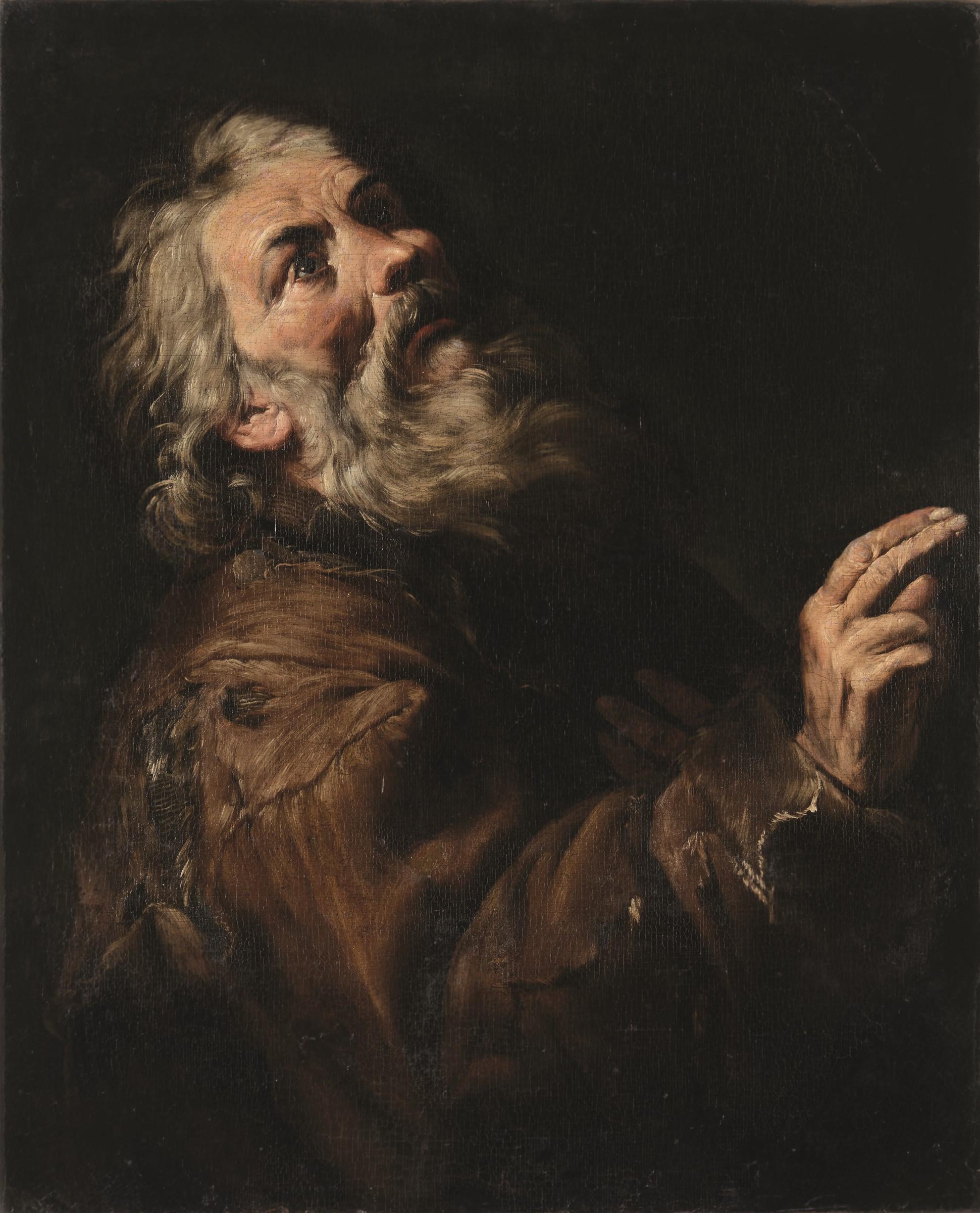 Francesco Francanzano (Monopoli 1612 - Napoli 1656), Santo eremita colto in un gesto [...]