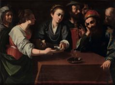 Carlo Sellitto (Napoli 1580-1614), Salomé ed Erode con la testa del Battista - olio [...]