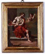 Francesco Polazzo (Venezia, 1683 – Venezia, 1753), Ecce Homo - olio su tela, cm 32x25 -