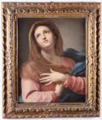 Scuola emiliana del XVIII secolo, Madonna orante - olio su tela, cm 69x57 -