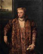 Parrasio Micheli (Venezia 1516 ca.-1578), copia da, Ritratto di dama con libro - olio [...]