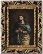 Scuola italiana del XVII secolo, Ecce Homo - olio su tela, cm 37x25, in cornice [...]
