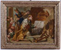 Giovan Battista Pittoni (1687-1767), copia da, Incoronazione del re Saul - olio su [...]