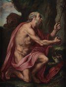 Agostino Carracci (Bologna 1557 - Parma 1602), copia da, San Girolamo penitente - [...]