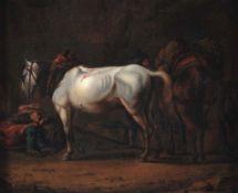Emanuel Murant (Amsterdam 1622 - Leeuwarden 1700), Riposo di cavalieri e cavalli - [...]