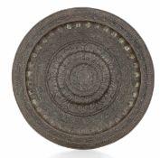 A copper plate, Northern Italy, 1500s - diametro cm 47,5. Ricchi decori tardo [...]