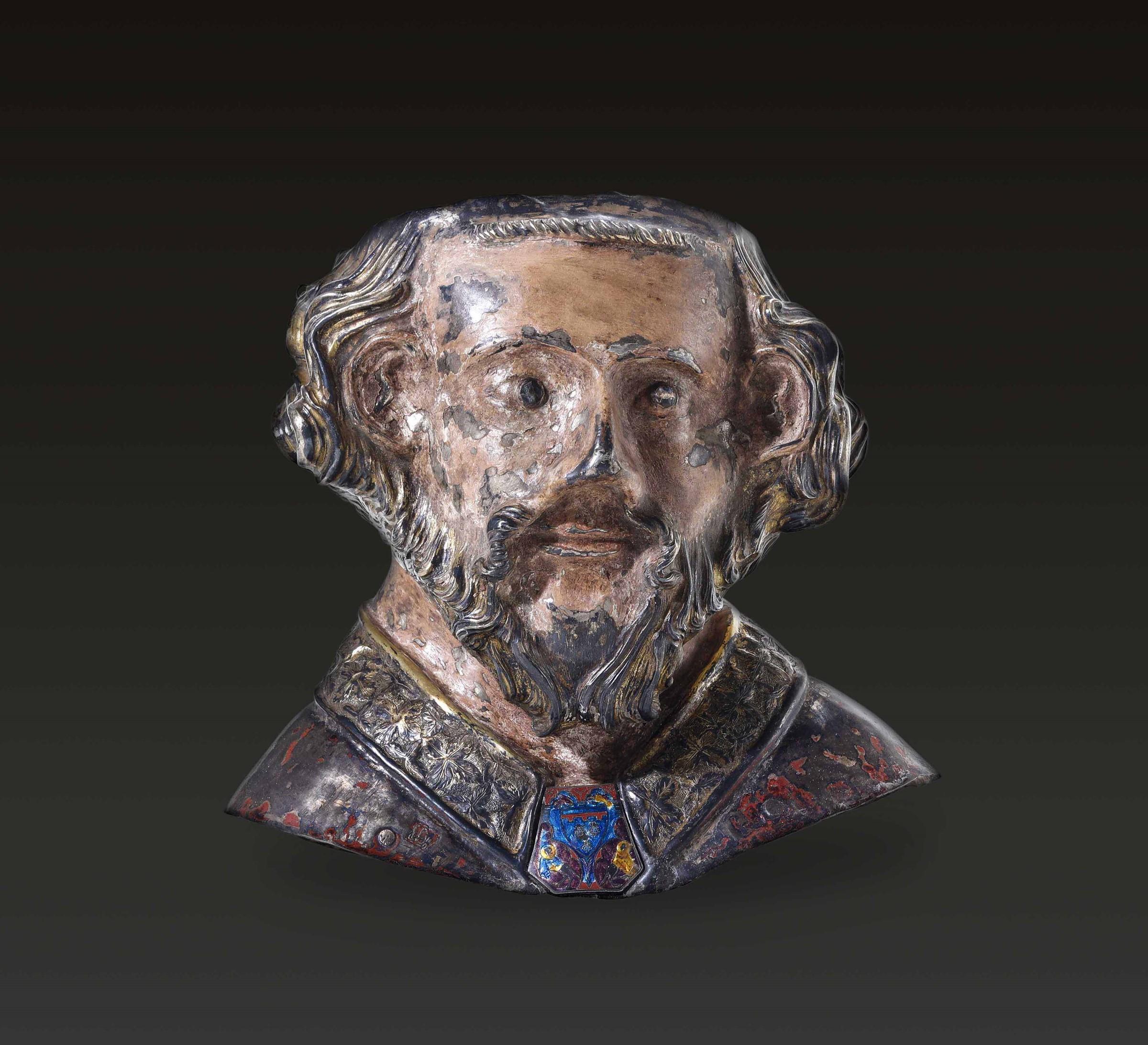 A silver Saint, Catalonia or France, 13-1400s - cm 23x14x24. La rara testimonianza di [...]