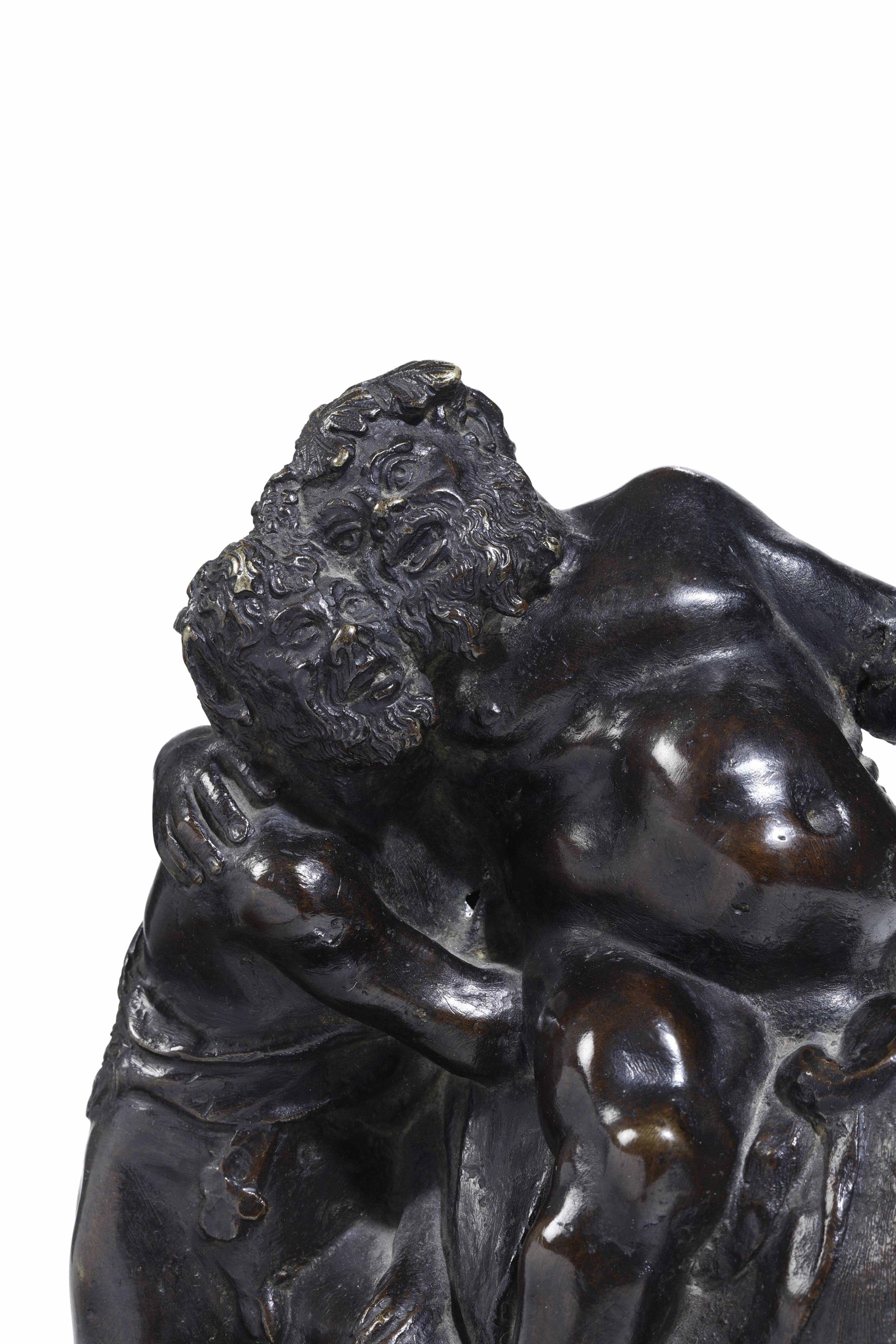 A bronze group, Italian-Flemish artist, 15-1600s - cm 26x20. L'insolita e buffa [...] - Image 2 of 2