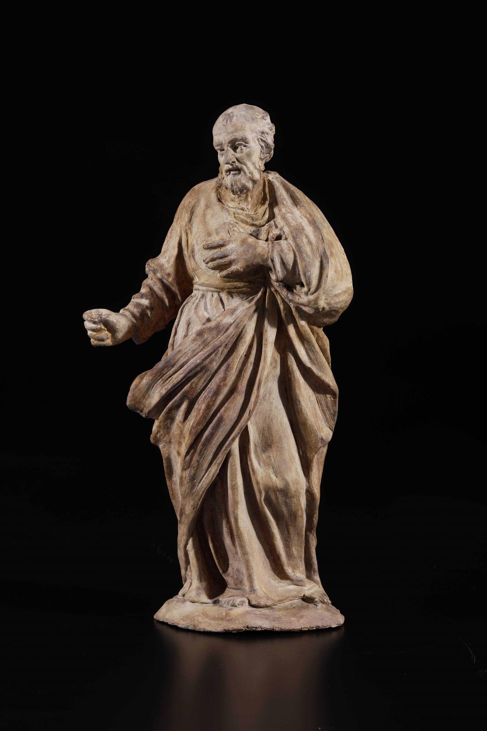 St Joseph, attr. Scandellari, Bologna, 1700s - cm 31 (difetti) -