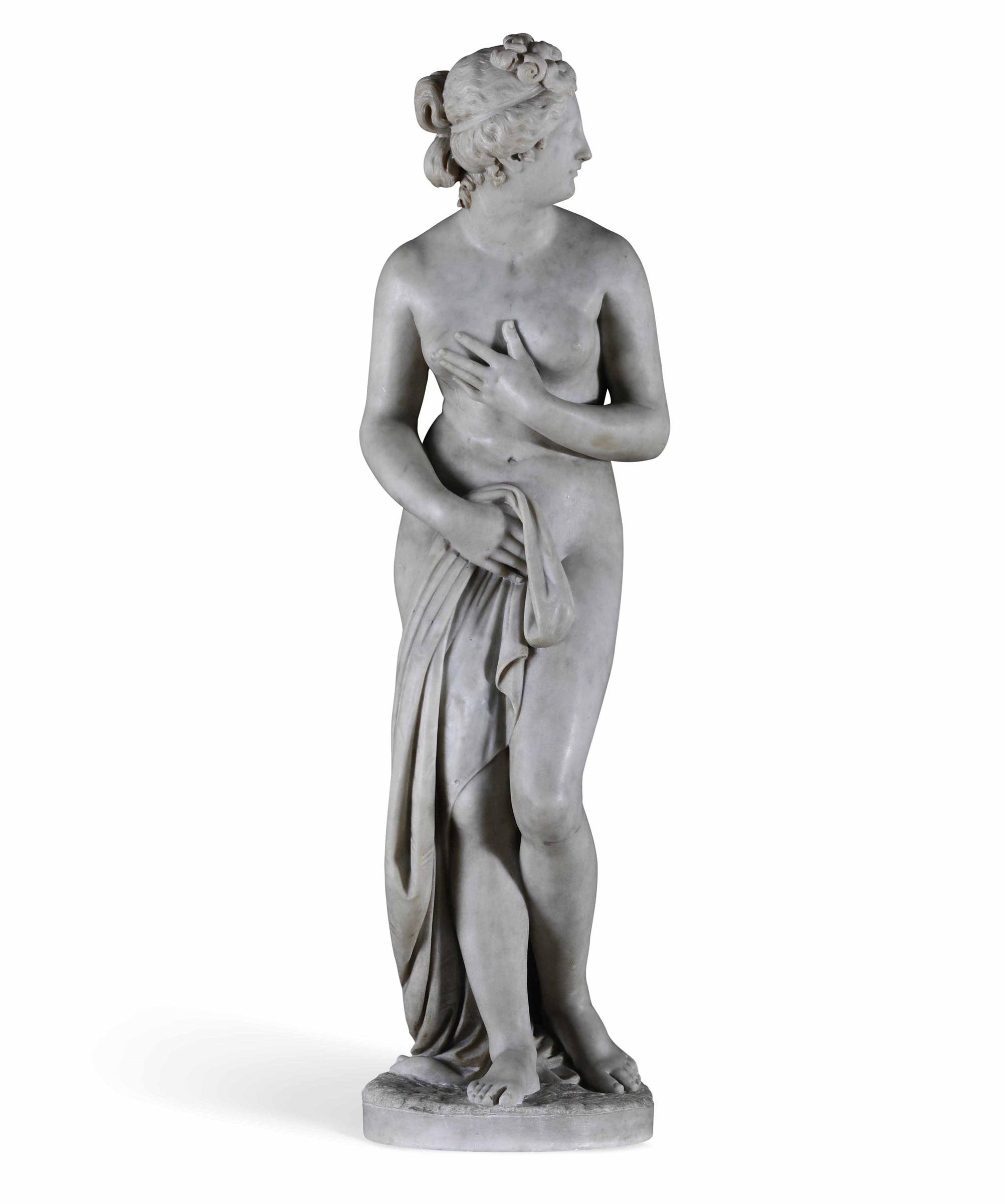 A marble Venus, model by Canova, Italy, 18-1900s - altezza statua cm 122, base cm 100 [...] - Image 2 of 3
