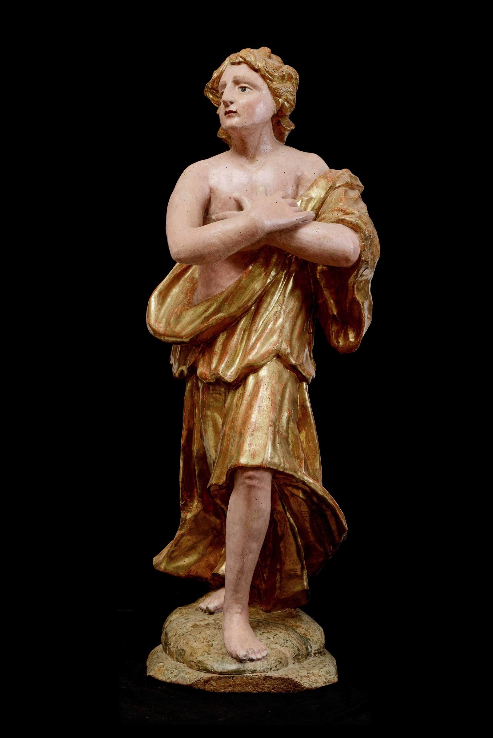 A wooden sculpture, Central Italy, 16-1700s - cm 120 (restauri alla policromia) - - Image 2 of 2