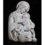 A marble Madonna, attr. A. Federighi, Siena, 1400s - cm 45x31. L'opera è [...]