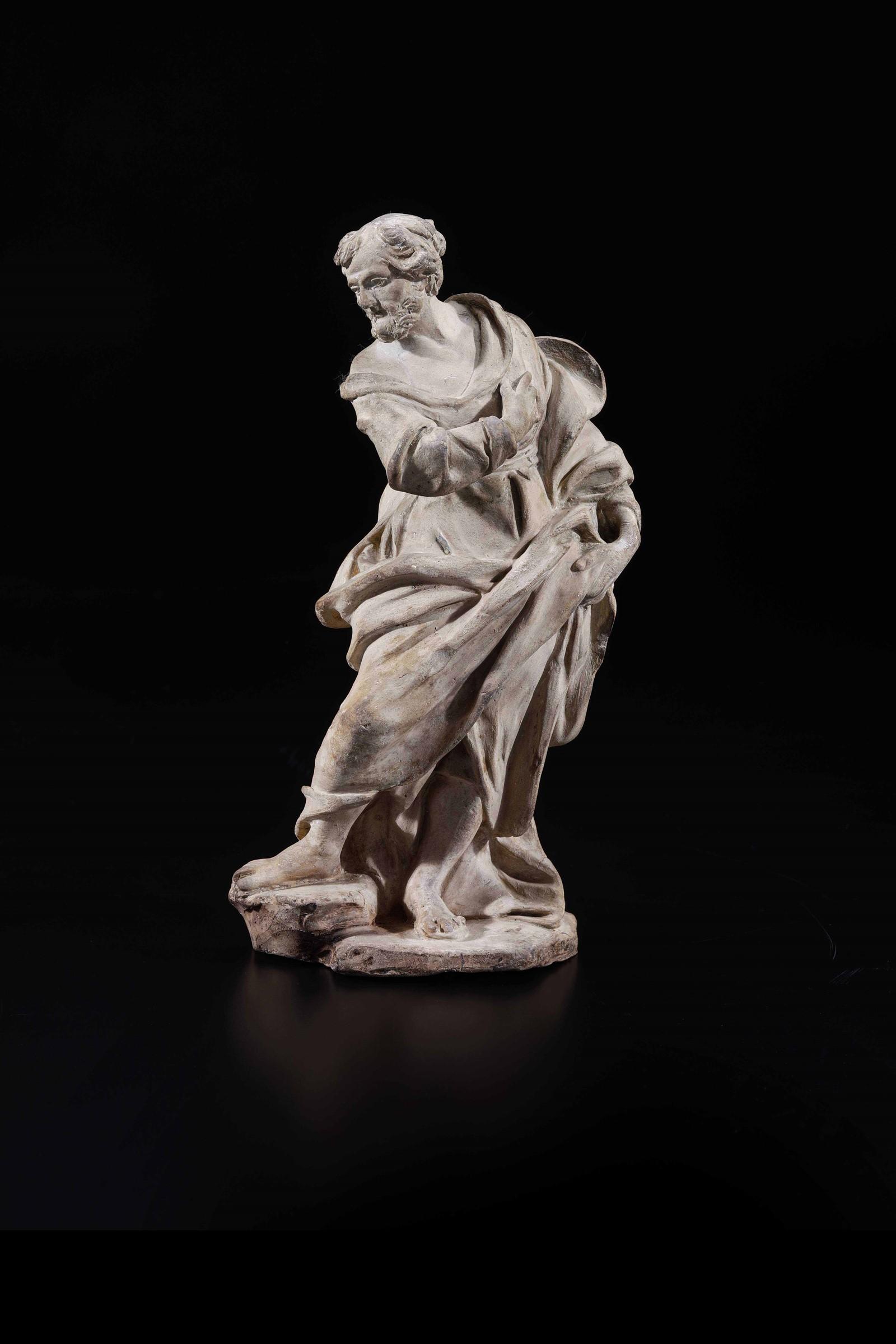 A terracotta Saint, attr. Mazza, Bologna, 1700s - altezza cm 23 -