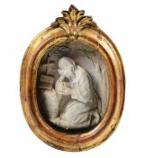 A marble relief of Saint Anthony, Italy, 1700s - cm 15x12 -