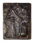 A bronze Salome plaque, Veneto, 1100s - cm 10x7,5 -