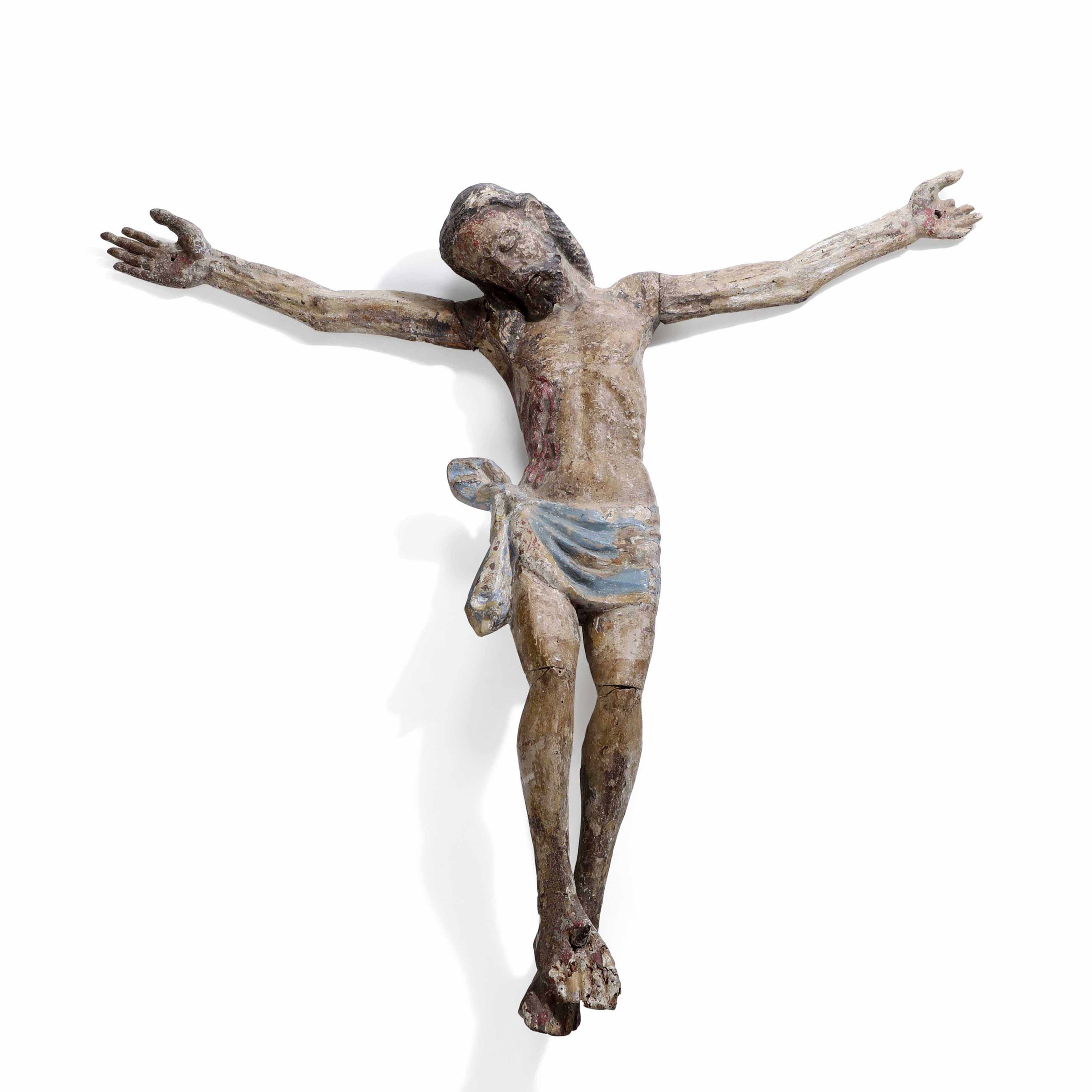 A wooden Corpus Christi, Italy, 1400s - altezza cm 84 circa -