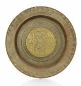 A brass plate, Germany, 1500s - diametro cm 40,3. Cavetto con raffigurazione di San [...]