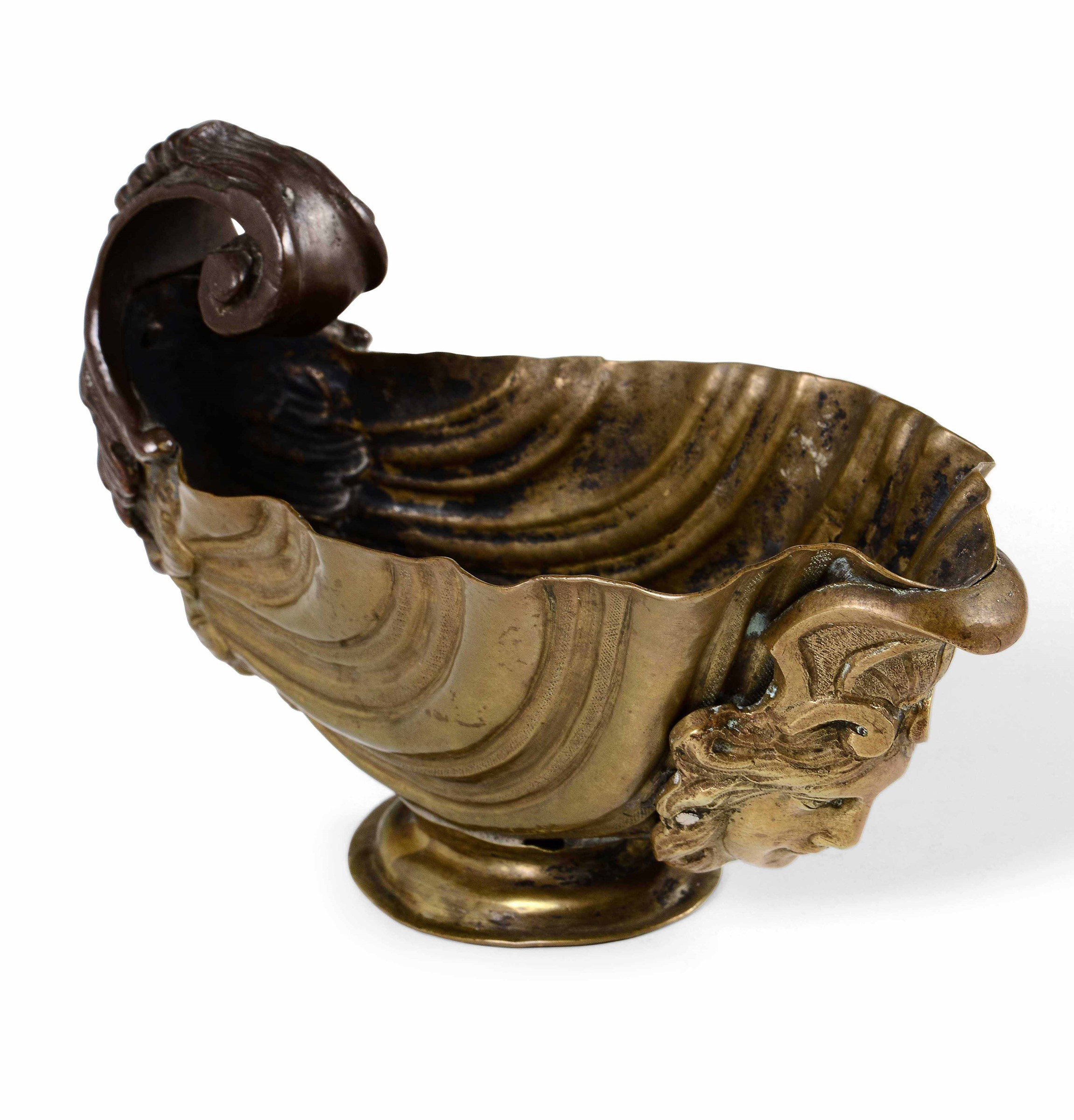A copper and bronze pitcher, 1700s - cm 15x7x9,5 -