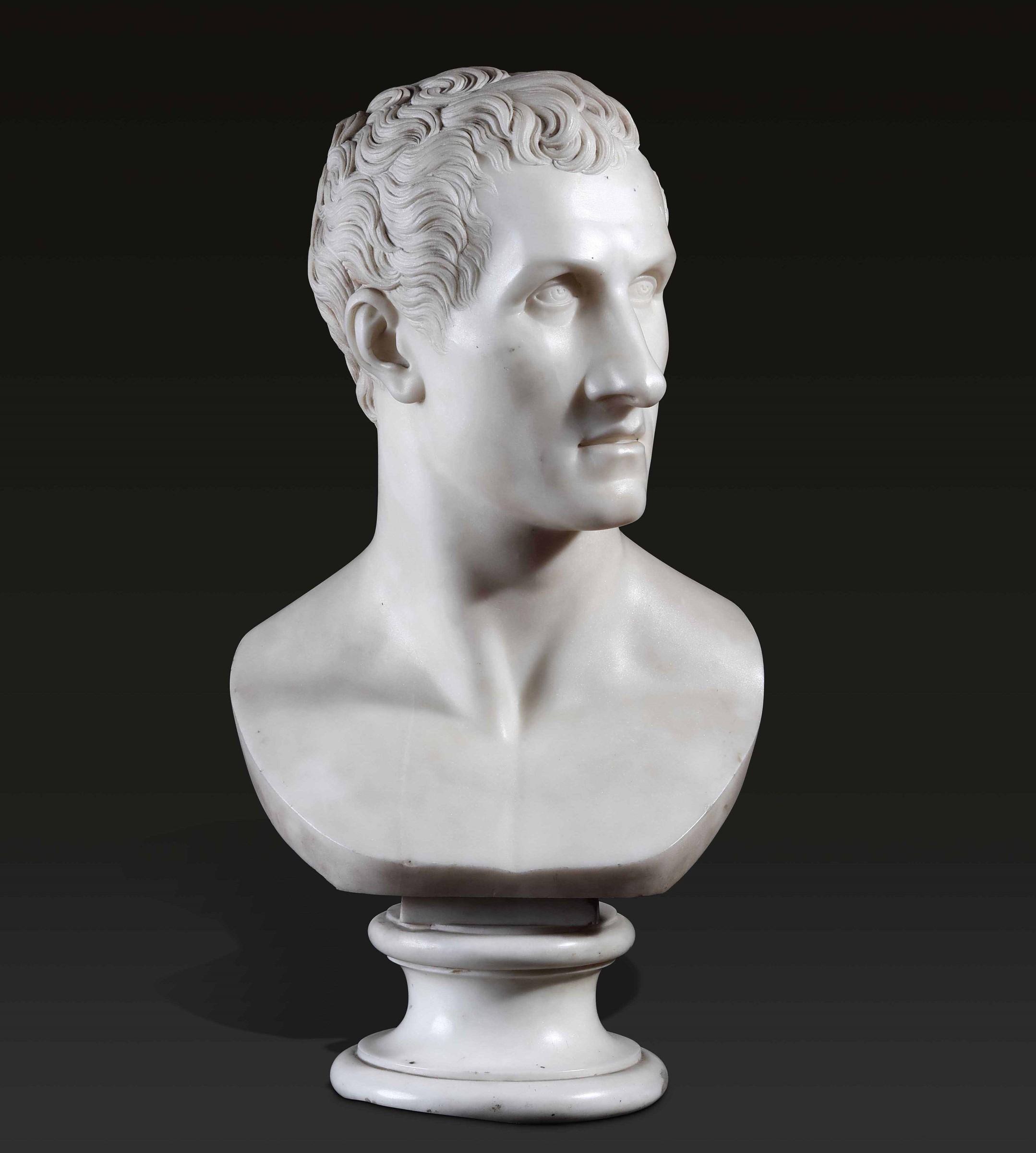 A marble bust of Canova, R. Trentanove, Rome, 1822 - altezza cm 59. Raimondo [...]