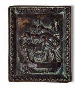 A bronze plaque, 1100s - cm 10x8 -