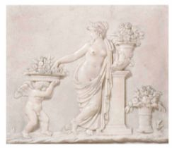 A terracotta allegory, Italy, 17-1800s - cm 11,8x12,3 -