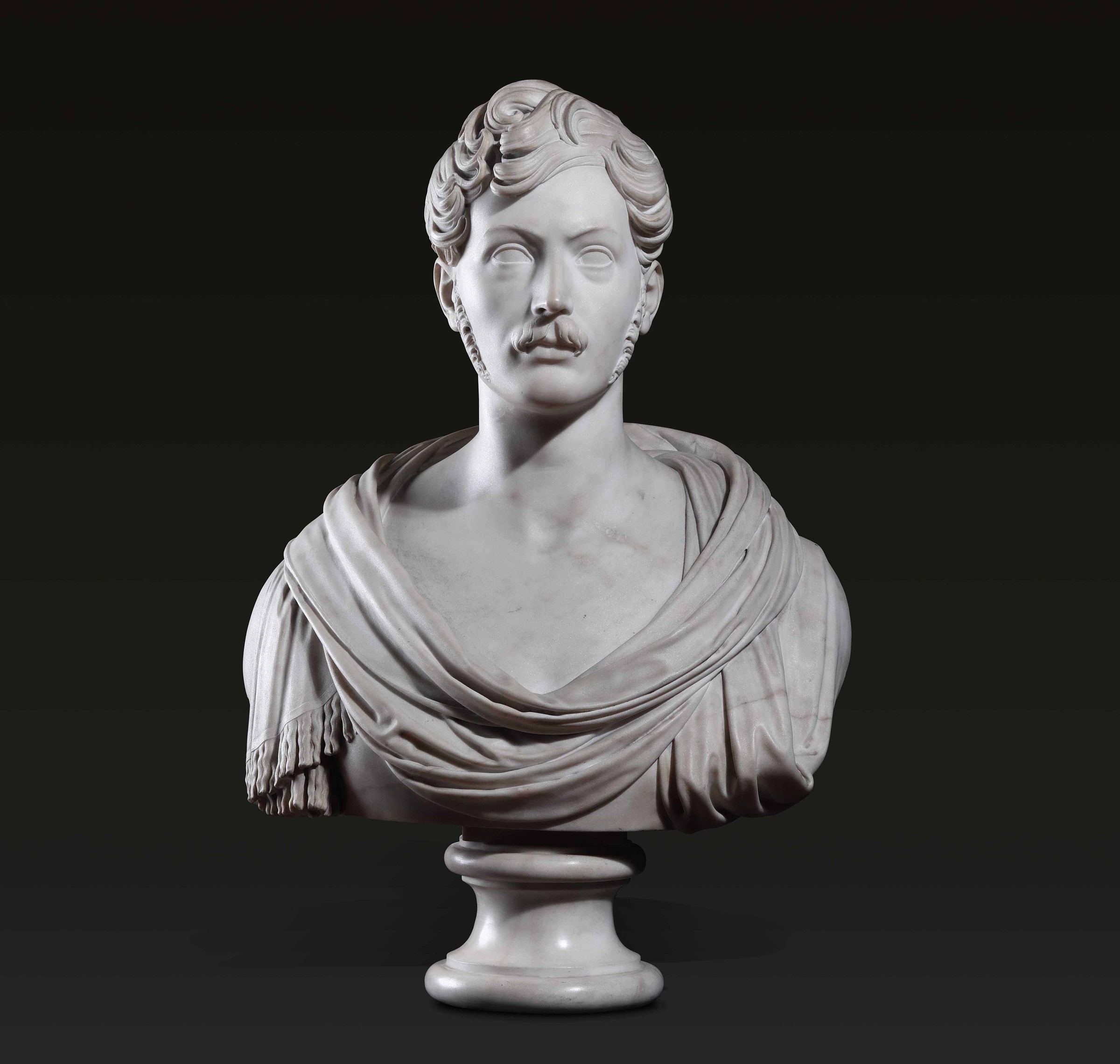 A marble bust, Italy, early 1800s - altezza cm 72 -