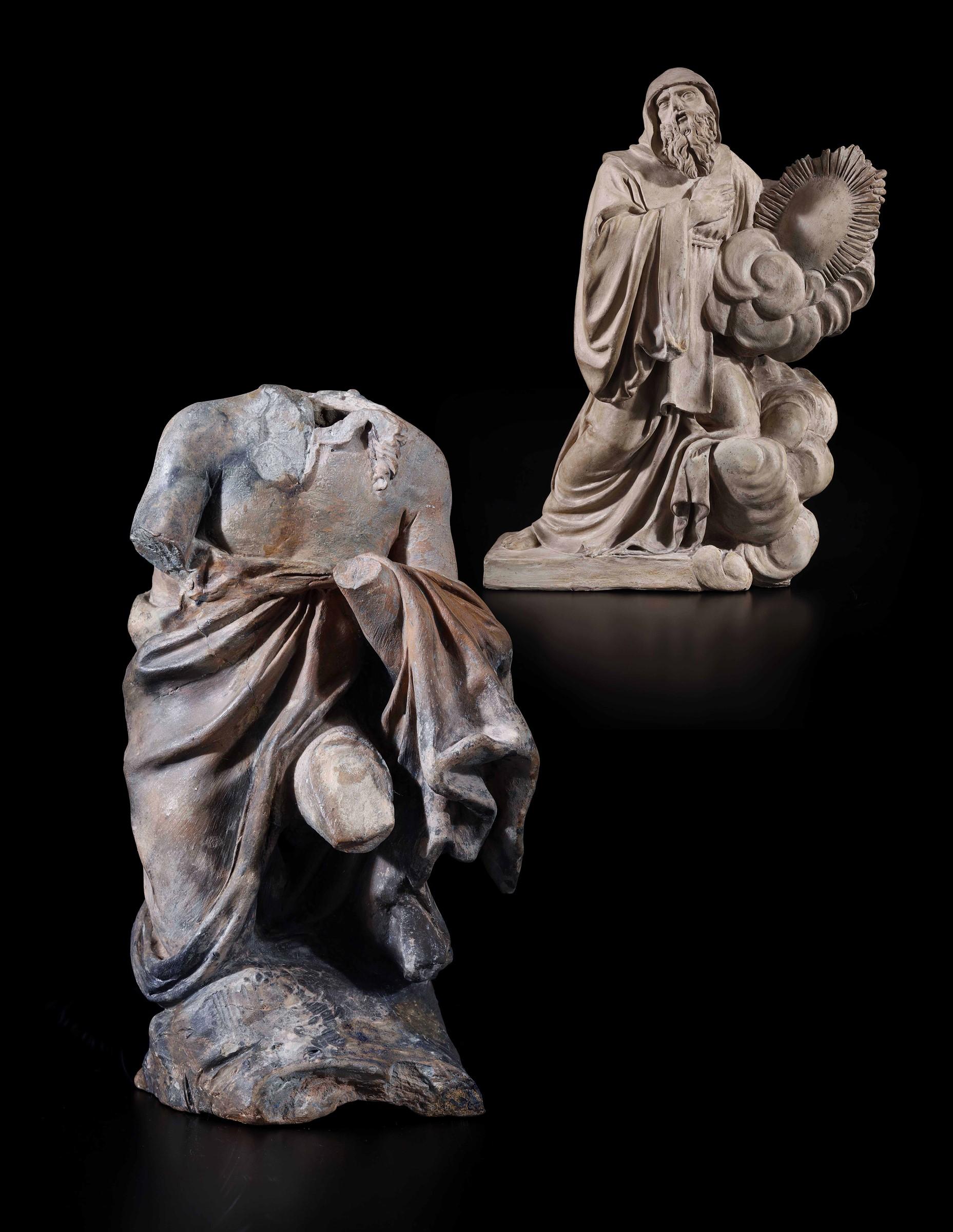 St Michael, A.M. Maragliano, Genoa, 1694 - La straordinaria raccolta qui presentata [...] - Image 8 of 15