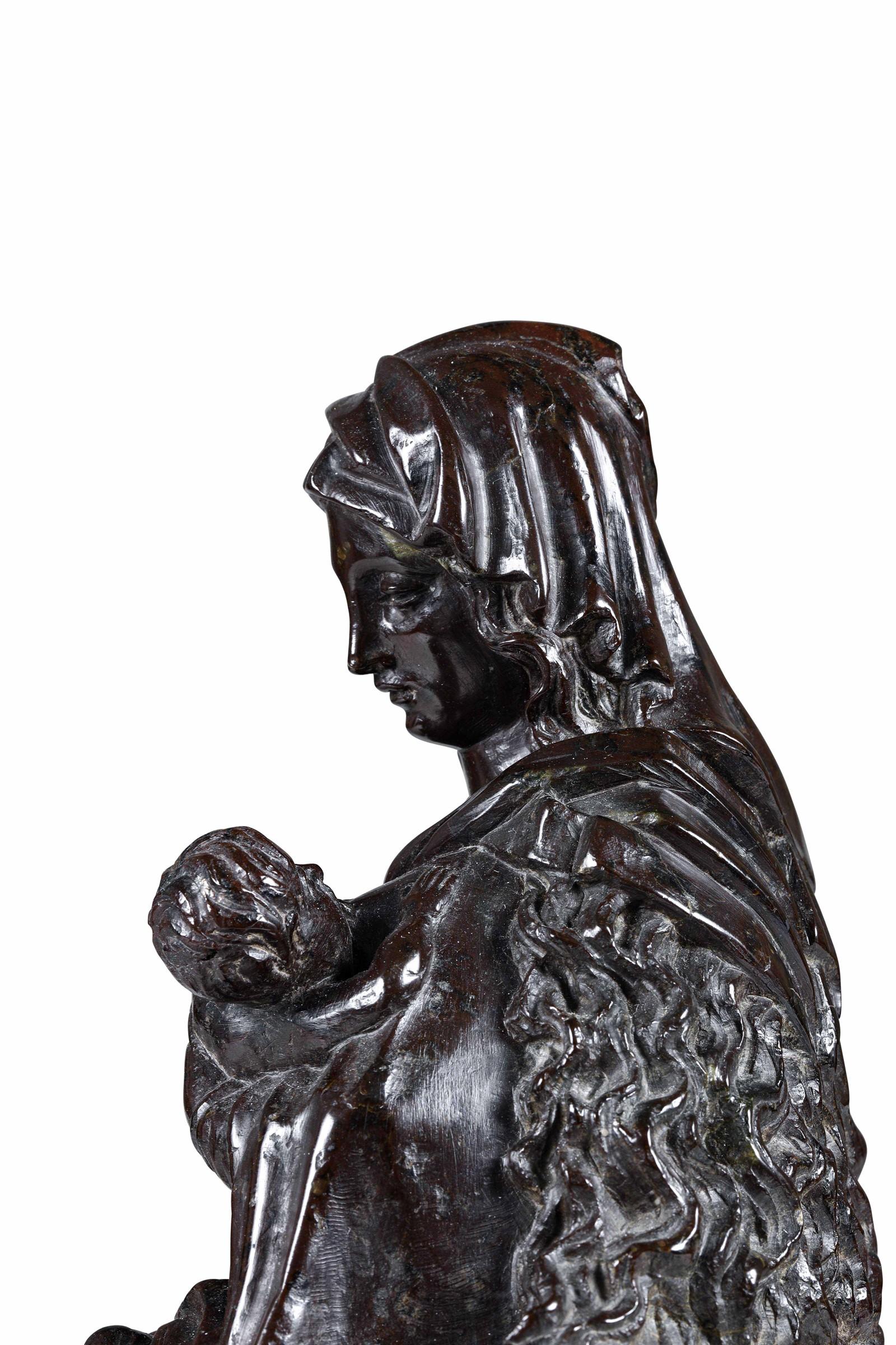 A jasper sculpture, Flanders, Central Europe, 1400s - Altezza cm 38. La composizione, [...] - Image 2 of 4