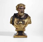 A wooden Saint, Rome (?), early 1600s - cm 63x44 -