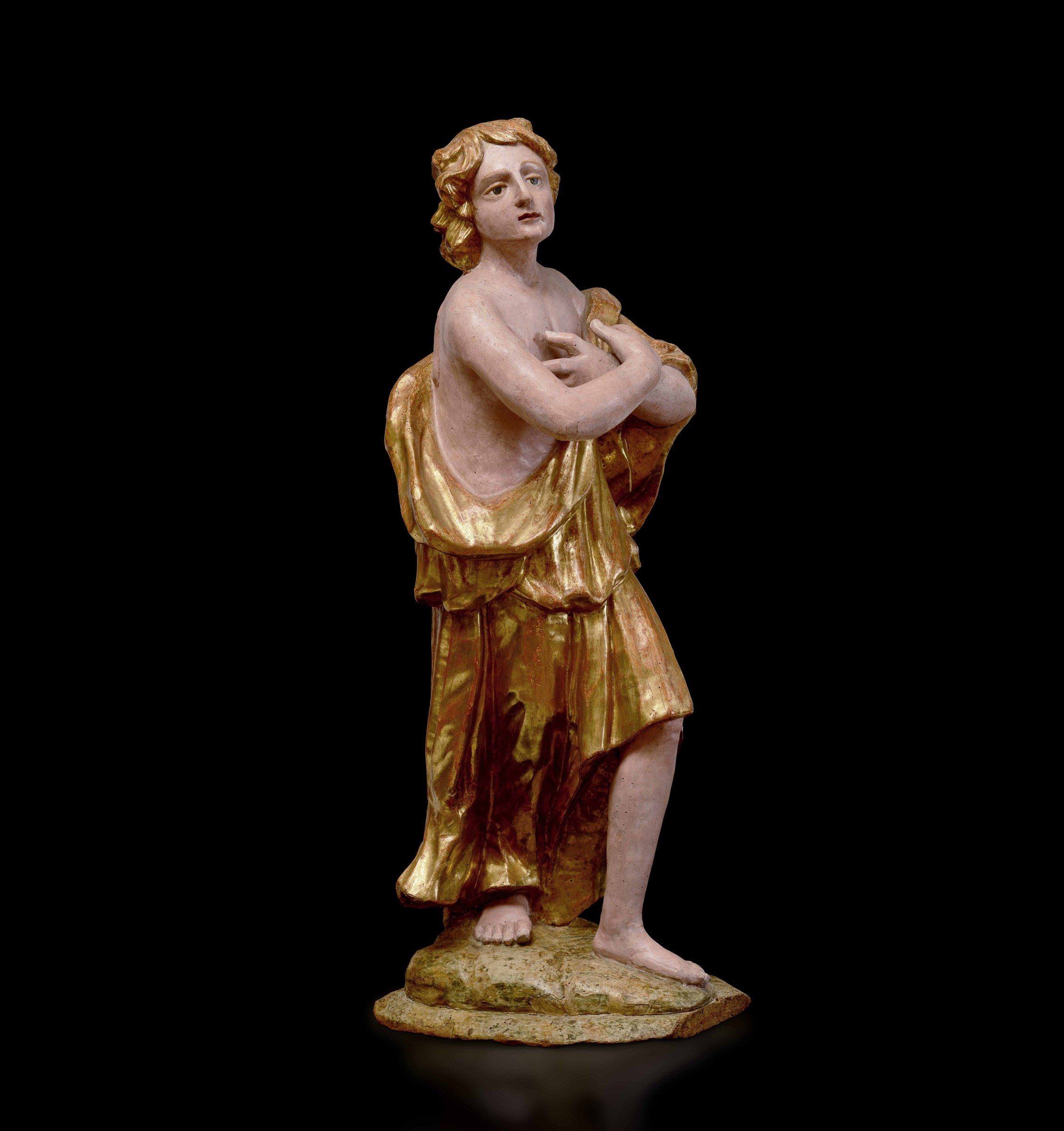 A wooden sculpture, Central Italy, 16-1700s - cm 120 (restauri alla policromia) -