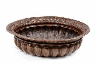 A copper basin, 16-1700s - cm 10x34 -