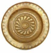 A brass plate, Germany, 1500s - diametro cm 34,5 -
