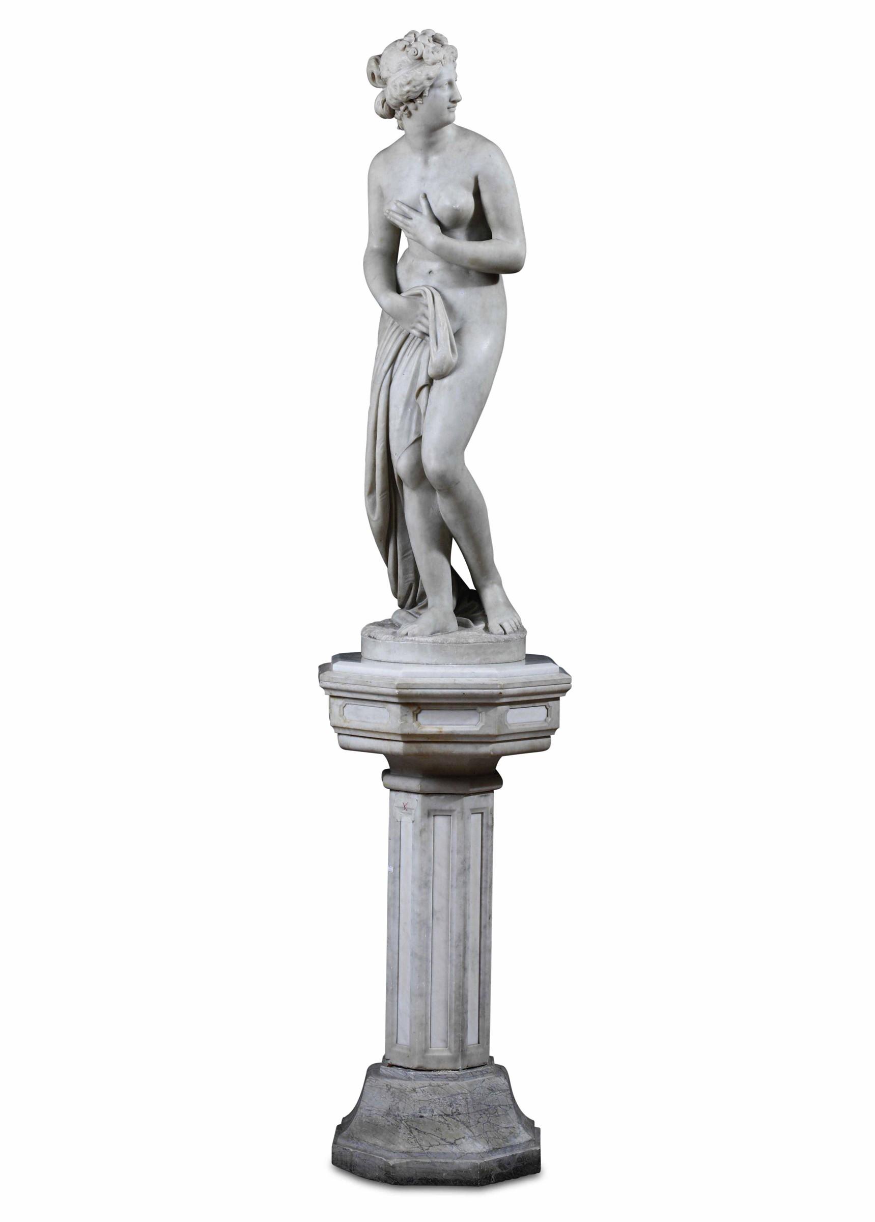 A marble Venus, model by Canova, Italy, 18-1900s - altezza statua cm 122, base cm 100 [...] - Image 3 of 3