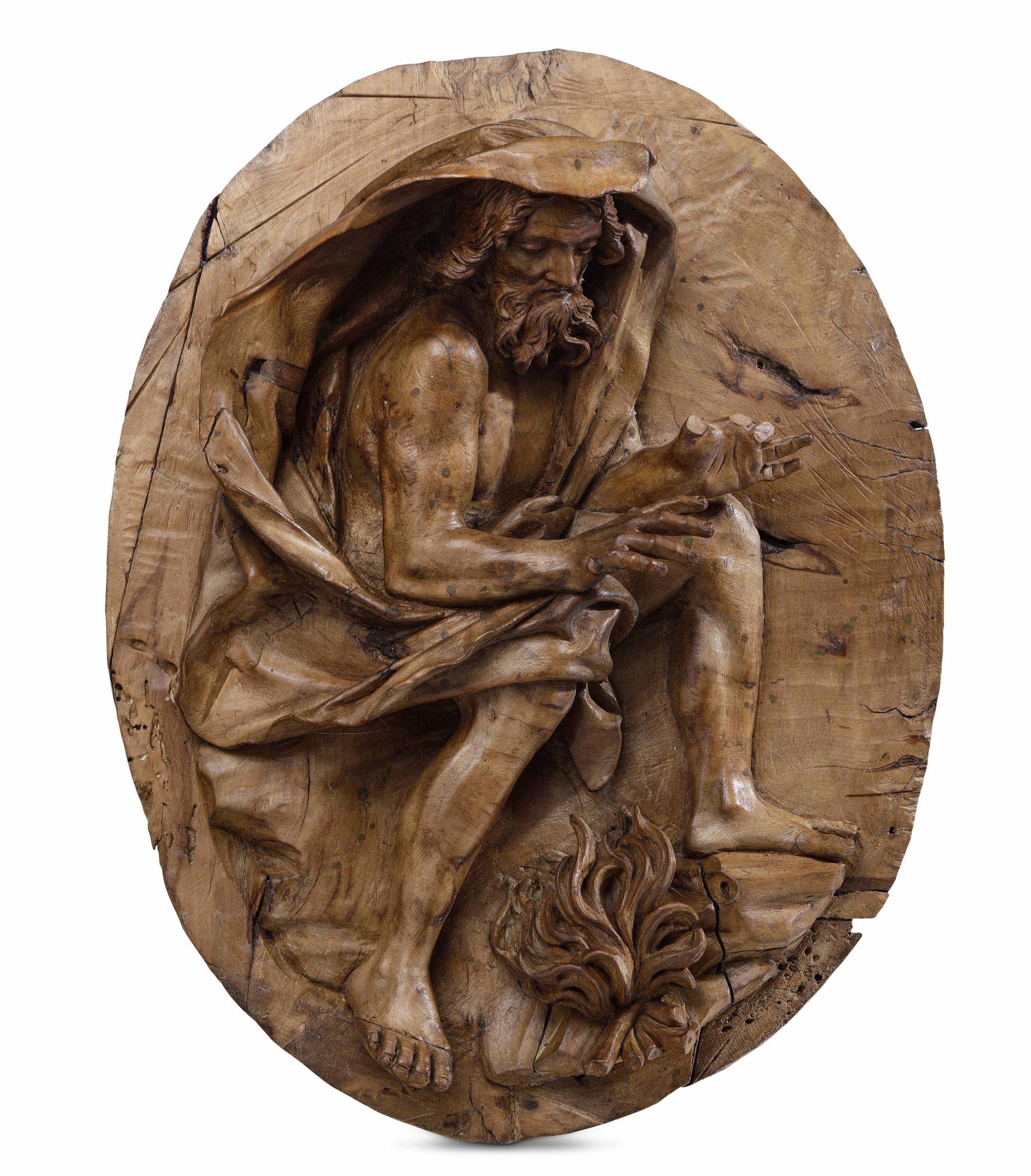 """A wood relief of winter, Genoa, 1725-30ca - cm 43x29,5. Opera pubblicata in """"Lo [...] - Image 3 of 3"""