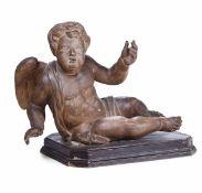 Two terracotta putti, 17-1800s - cm 60x37x47 -