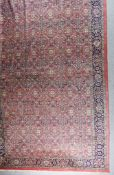 """An Indian Carpet of """"Tabriz"""" Design, Mid- 20th Century, woven in pastel colours, the field filled"""