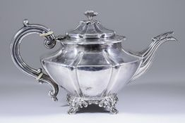 A William IV Silver Circular Lobed Tea Pot, by Samuel Hayne & Dudley Cater, London 1836, with chased