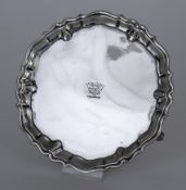 A George II Silver Circular Waiter, by Robert Abercromby, London 1738, with shaped and moulded